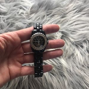 Ladies 7408 Geneva watch black